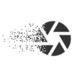 Shutter fragmented pixel icon vector