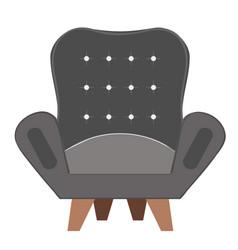Simple cartoon armchair vector