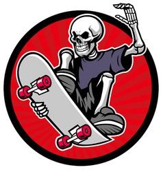 Skull skater vector