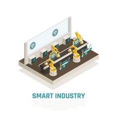 smart industry composition vector image