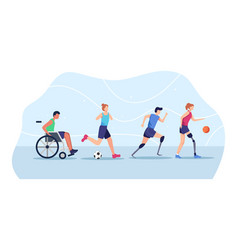 Sports people with disabilities vector