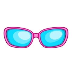 Sunglasses icon cartoon style vector image