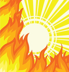 Sunlight Fire Background vector image