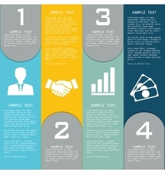 Templates with elements for presentations vector image