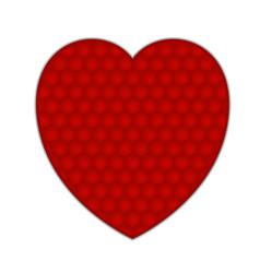 textured heart vector image