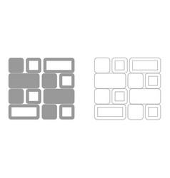 Tile set icon vector