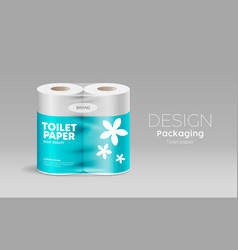 toilet paper plastic packaging roll vector image
