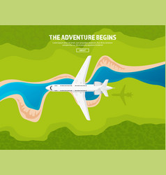 travel and tourism airplane vector image