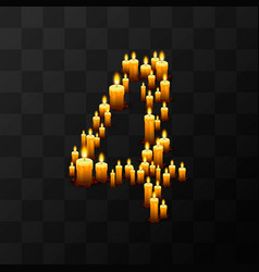 Tribulation numbers 4 of candles vector