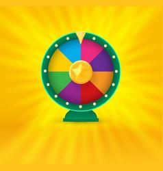 vegas casino round fortune wheel logo colorful vector image