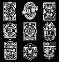 Vintage poster emblem t-shirt design set vector
