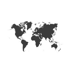 world map isolated on white background - stock vector image