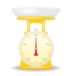 yellow color weight scale market isolate on white vector image