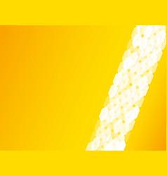 yellow hexagonal design background vector image
