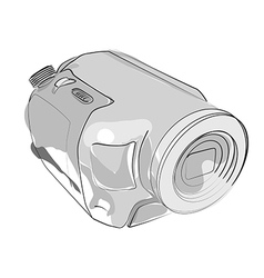 abstract camcorder on white vector image vector image
