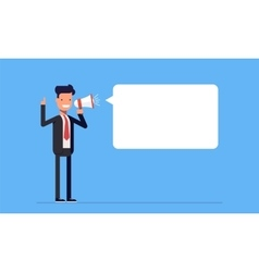 Businessman or manager yelling to the speaker Man vector image vector image