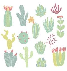 cacti vector image