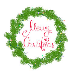 festive round wreath vector image