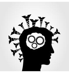 idea screws vector image vector image