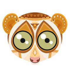 lemur head logo monkey decorative emblem vector image