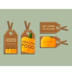 Organic farm corporate identity design with vector image vector image