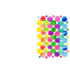 watercolor confetti isolated abstract spot vector image