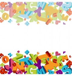 alphabet background vector image