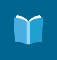 book with white pages flat icon vector image