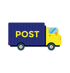 delivery transport cargo post truck vector image