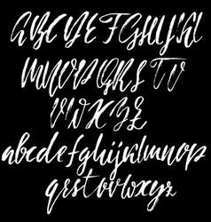 hand drawn font modern dry brush lettering vector image vector image