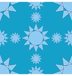 Seamless winter pattern with star elements on blue vector image vector image