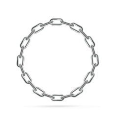 Silver Chain Frame Round vector image vector image