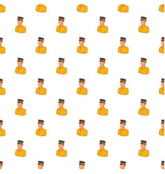 Taxi driver pattern cartoon style vector