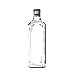 Traditional unlabeled unopened blue gin glass vector image vector image