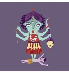 abstract Hindu goddess kali religion cult india vector image vector image