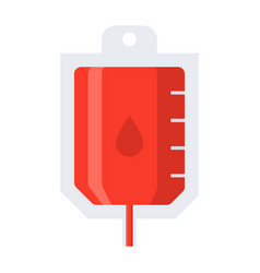 blood transfusion icon vector image