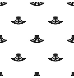 Neck icon in black style isolated on white vector image vector image