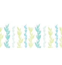 Blue green seaweed vines horizontal seamless vector image vector image