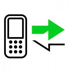 callback icon vector image vector image