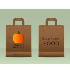 Stylish Farm Fresh paper bags template Mock up vector image vector image
