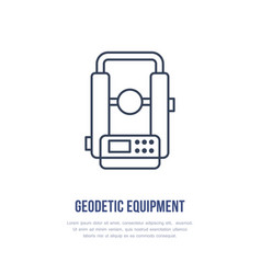 theodolite geological survey engineering vector image vector image