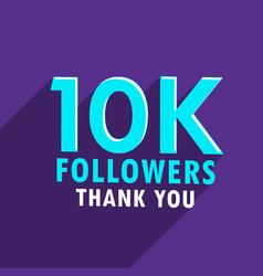 10000 followers success social media template vector