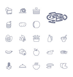 22 food icons vector