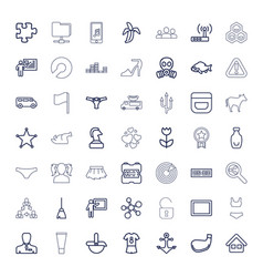 49 white icons vector