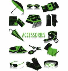 Accessories silhouettes vector