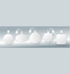 advertising sale wobbler on bended transparent vector image