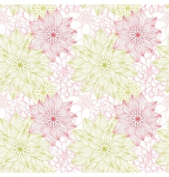 background with hand drawn flowers Seamless vector image