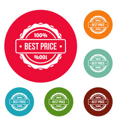 Best price logo simple style vector