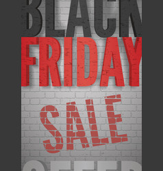 black friday announcement realistic black vector image