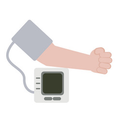 Blood pressure monitoring simple on vector